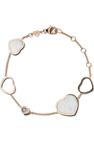 Chopard 18kt Happy Hearts mother of pearl and diamond bracelet