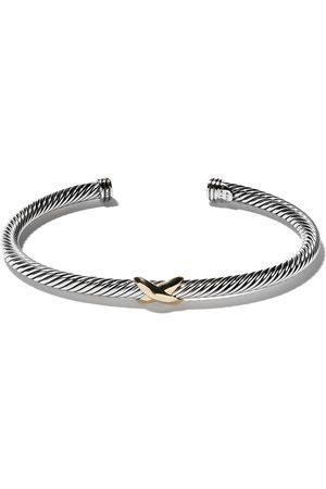 David Yurman 18kt yellow gold X silver cuff bracelet