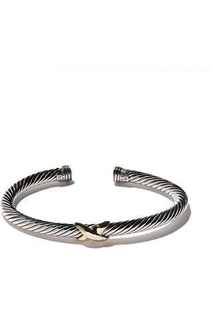 David Yurman 14kt yellow gold X silver cuff bracelet