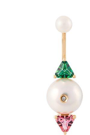 DELFINA DELETTREZ 18kt gold Complex Gemetries diamond earring