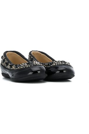 ERMANNO SCERVINO JUNIOR Girls Ballerinas - Studded ballerina flats