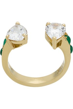 Dubini Theodora Zirconium Double Tear 18kt gold ring