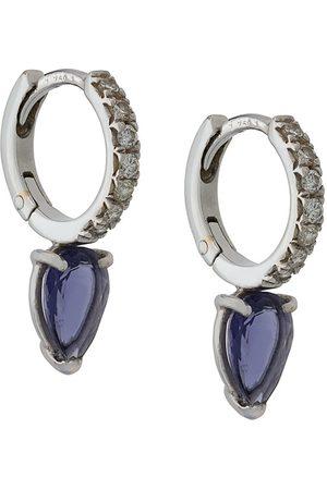 Dubini Theodora Iolite 18kt white gold drop earrings