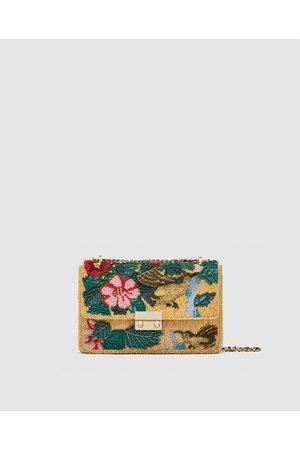 Zara BEADED BIRDS CROSSBODY BAG