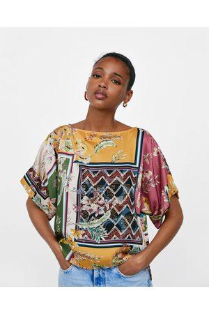 Zara PATCHWORK PRINT KIMONO