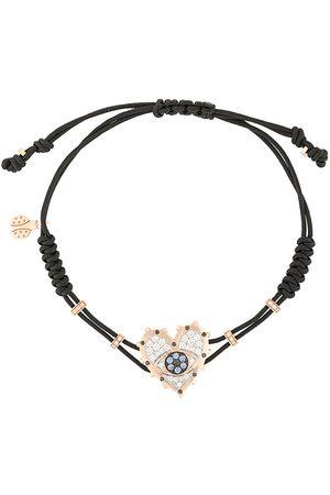 Pippo Perez 18kt rose gold, diamond and sapphire Evil Eye Heart charm bracelet