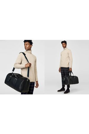 Zara BOWLING BAG WITH CONTRASTING LINING