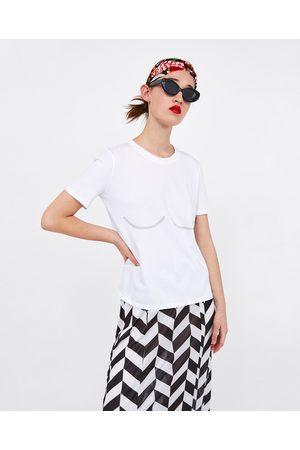 Zara BUSTIER PRINT T-SHIRT