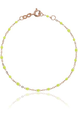 Gigi Clozeau Lime green RG bead rose gold bracelet