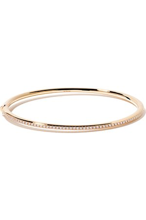 De Beers 18kt Micropavé diamond bangle