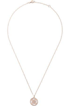De Beers 18kt Enchanted Lotus Openwork Medal diamond necklace