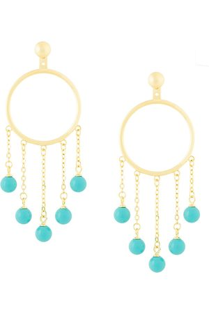 ESHVI Fang pearl drop earrings