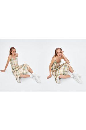 Zara CHECK CAMISOLE DRESS