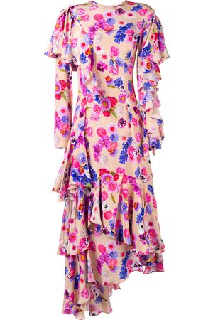 Natasha Zinko Asymmetric floral dress