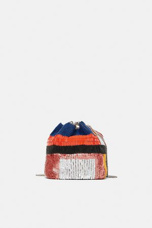 Zara BEADED CROSSBODY DOLLY BAG