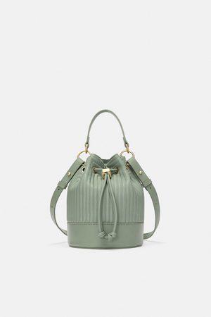 Zara QUILTED MINI BUCKET BAG
