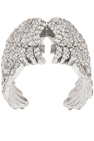 MONAN 18kt white gold and diamond wing cocktail ring