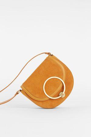 Zara CROSSBODY BAG WITH SUEDE FLAP