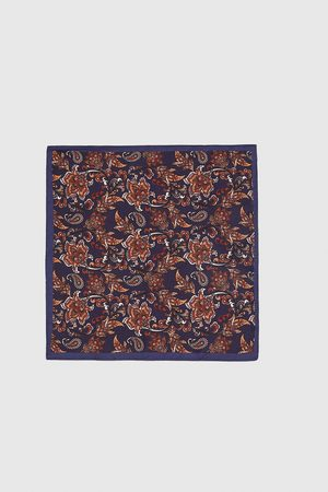 Zara PAISLEY EMBELLISHED POCKET SQUARE