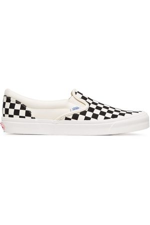 Vans And white OG classic canvas slip on sneakers