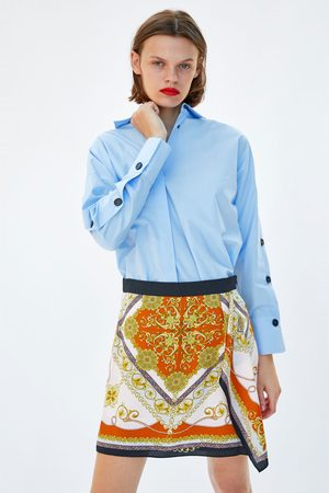 Zara CHAIN PRINT BERMUDA SKORT