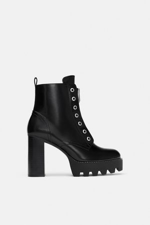Zara TRACK SOLE ANKLE BOOTS