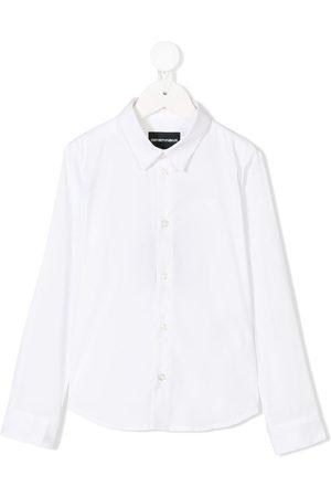 Emporio Armani Boys Tops - 8N4C091N06Z0100 Natural (Veg)->Cotton