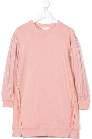 Le pandorine Tulle sleeve sweater dress