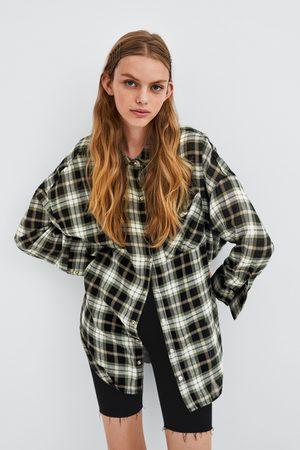 Zara OVERSIZED CHECK SHIRT