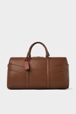 Zara BROWN BOWLING BAG