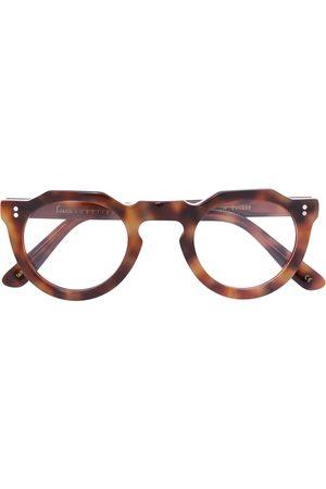 LESCA Round tortoiseshell glasses