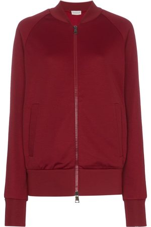 Moncler Logo detail and stripe sleeve cotton-blend sweater