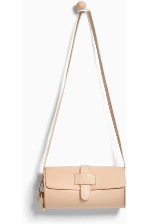 Zara Women Bowling Bags - NATURAL MINI BOWLING BAG