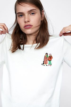 Zara EMBROIDERED GIRLS T-SHIRT