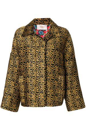 La DoubleJ Motorino foliate-embroidered jacket