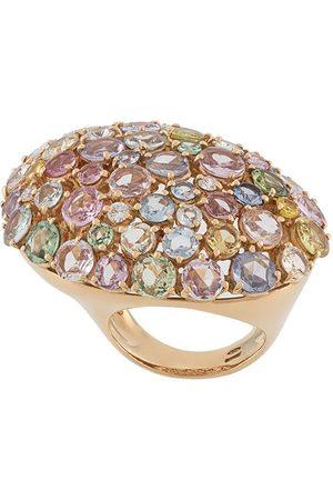 Gavello 18kt rose gold rainbow sapphire ring