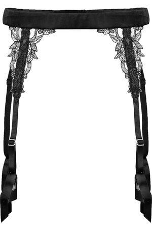 Fleur of England Onyx suspenders
