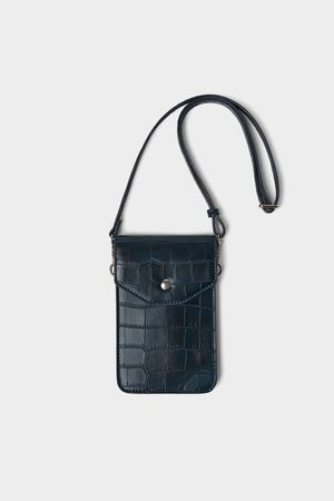Zara EMBOSSED MOCK CROC PHONE CARRYING CASE