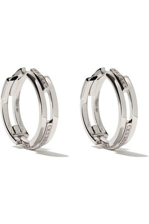 MAISON DAUPHIN 18kt and diamond C3V alternate setting earrings