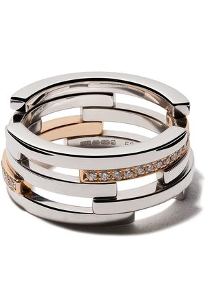 MAISON DAUPHIN 18kt gold and diamond C10V Volume ring