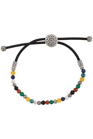 John Hardy Silver Classic Chain Mixed Stone Bead Pull Through Bracelet