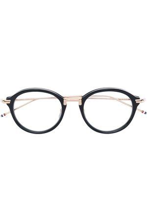 a0b54f1b400f Thom Browne   Shiny 18K Gold Optical Glasses. Black