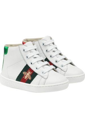 c05a90900 Kids Shoes for Boys. Gucci Toddler's leather high-top sneakers .