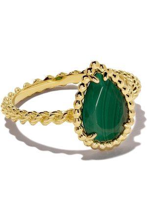 Boucheron 18kt yellow gold Serpent Bohème malachite S motif ring
