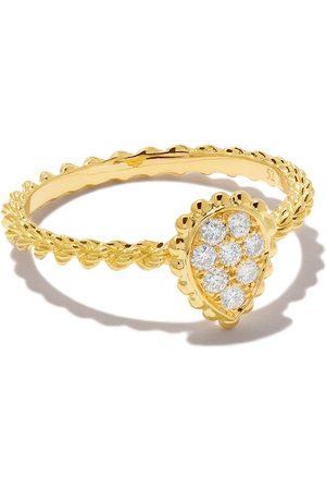 Boucheron 18kt yellow gold Diamond Serpent Bohème XS motif ring