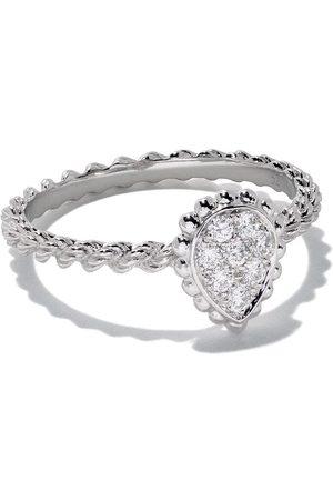 Boucheron 18kt white gold Diamond Serpent Bohème XS motif ring