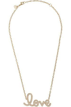 Sydney Evan 14kt large pavé love necklace