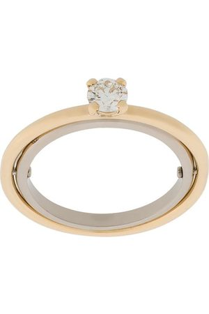 CHARLOTTE CHESNAIS 18kt yellow and white Elipse solitaire diamond ring