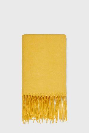 Zara PLAIN SCARF WITH FRINGE