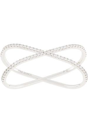 ALINKA 18kt white gold KATIA DUO two-finger diamond ring